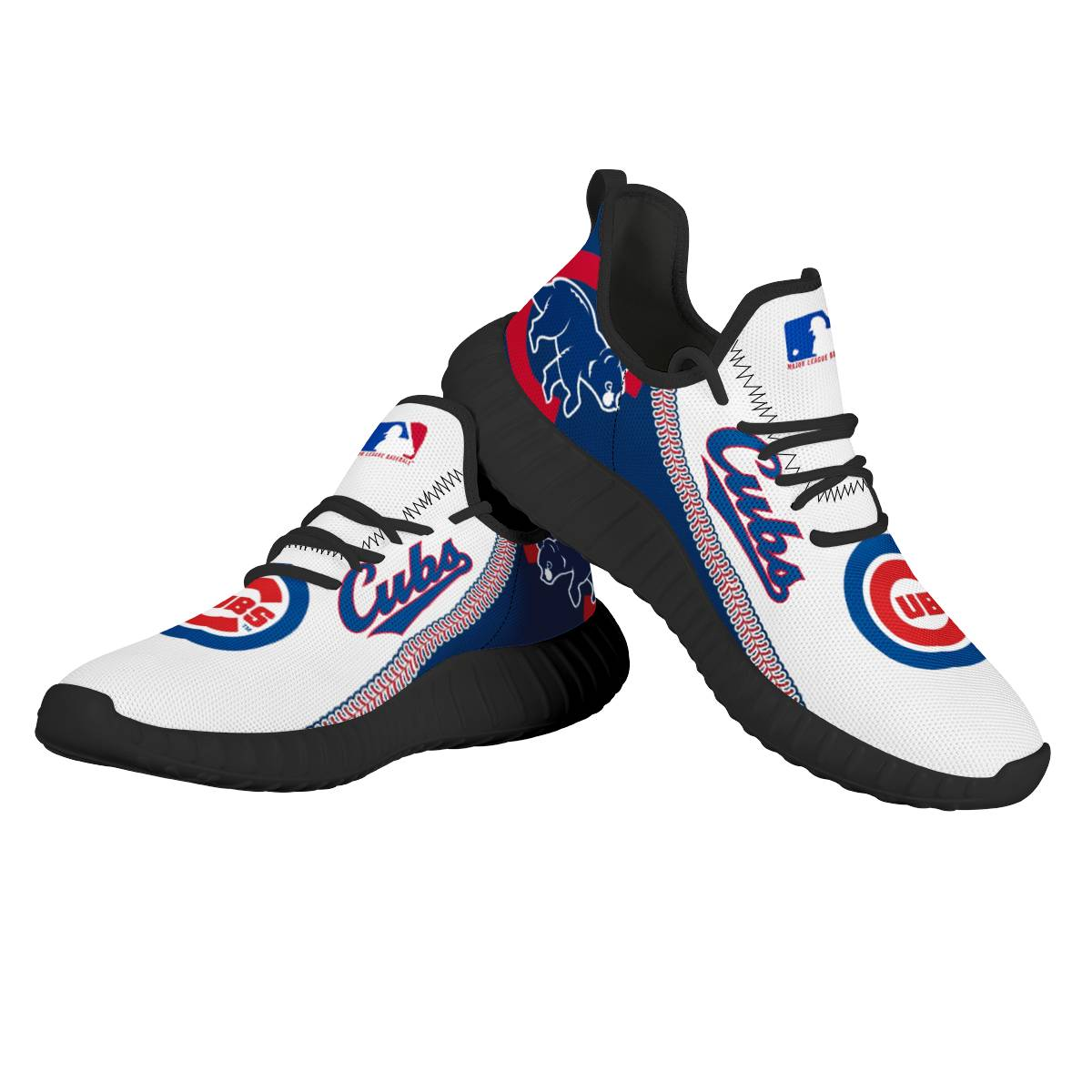 Women's Chicago Cubs Mesh Knit Sneakers/Shoes 012