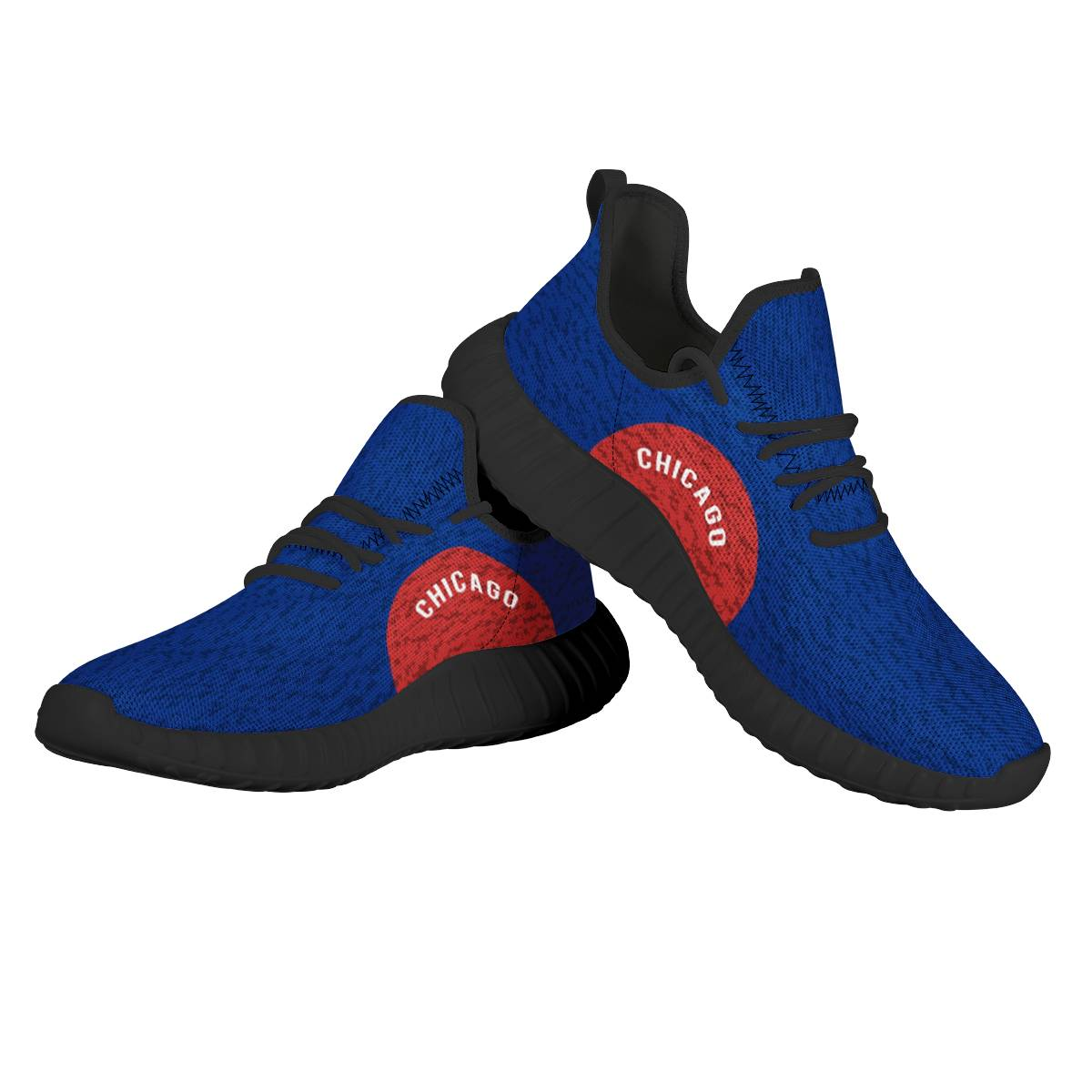 Women's Chicago Cubs Mesh Knit Sneakers/Shoes 013