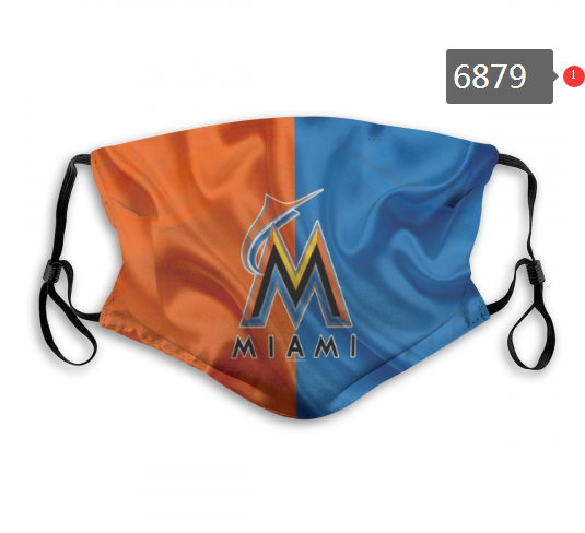 Miami Marlins Face Mask 6879 Filter Pm2.5 (Pls check description for details)