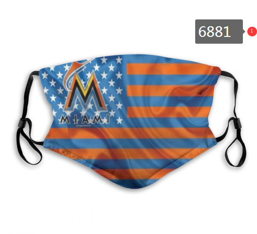 Miami Marlins Face Mask 6881 Filter Pm2.5 (Pls check description for details)