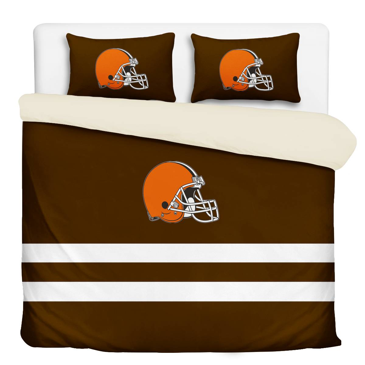 Cleveland Browns 3-Piece Full Bedding 002