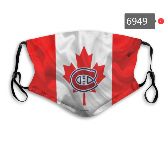 Montreal Canadiens Face Mask 6949 Filter Pm2.5 (Pls check description for details)