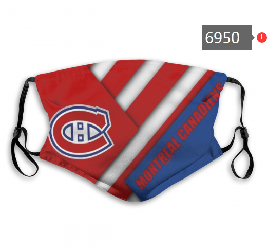 Montreal Canadiens Face Mask 6950 Filter Pm2.5 (Pls check description for details)