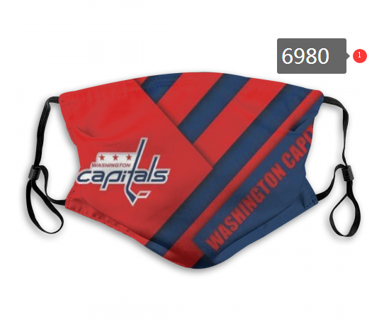 Washington Capitals Face Mask 6980 Filter Pm2.5 (Pls check description for details)