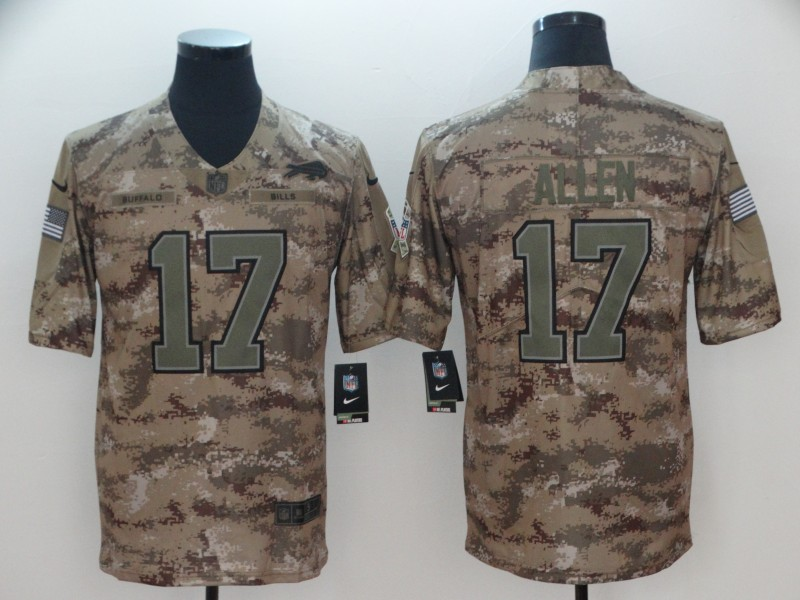 Men's Buffalo Bills #17 Josh Allen 2018 Camo Salute to Service Limited Stitched NFL Jersey