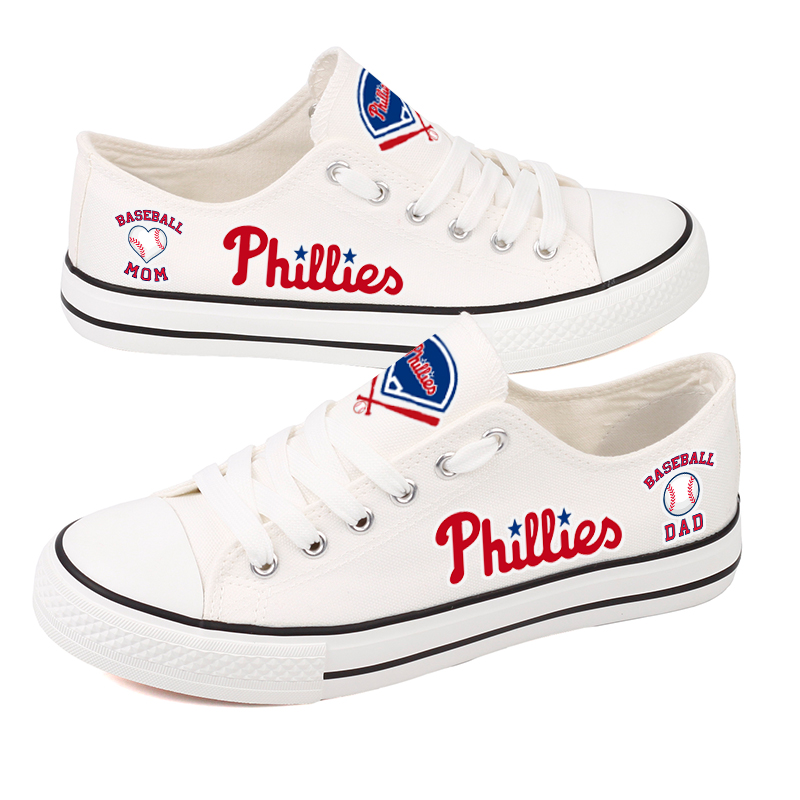 Women's Philadelphia Phillies Repeat Print Low Top Sneakers 004