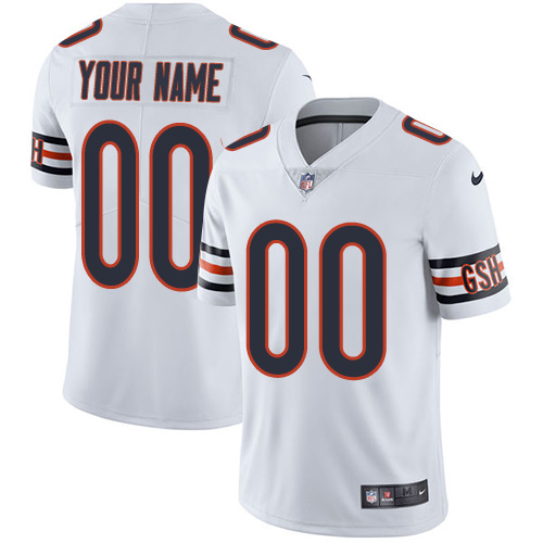 Men's Chicago Bears ACTIVE PLAYER Custom White Vapor Untouchable Limited Stitched NFL Jersey