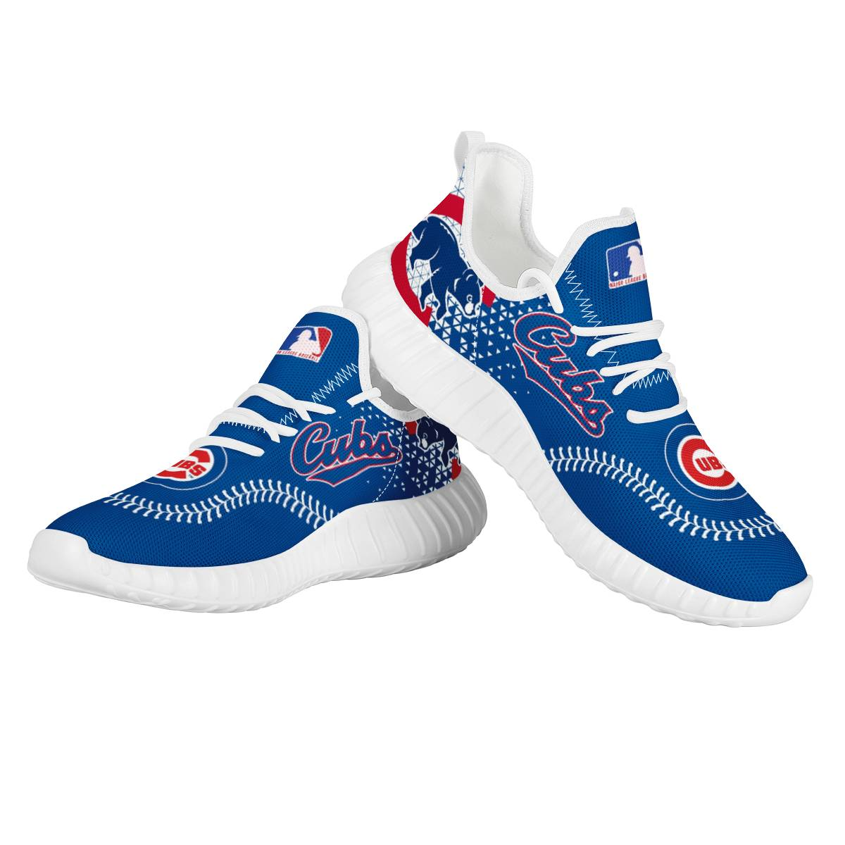 Men's Chicago Cubs Mesh Knit Sneakers/Shoes 007