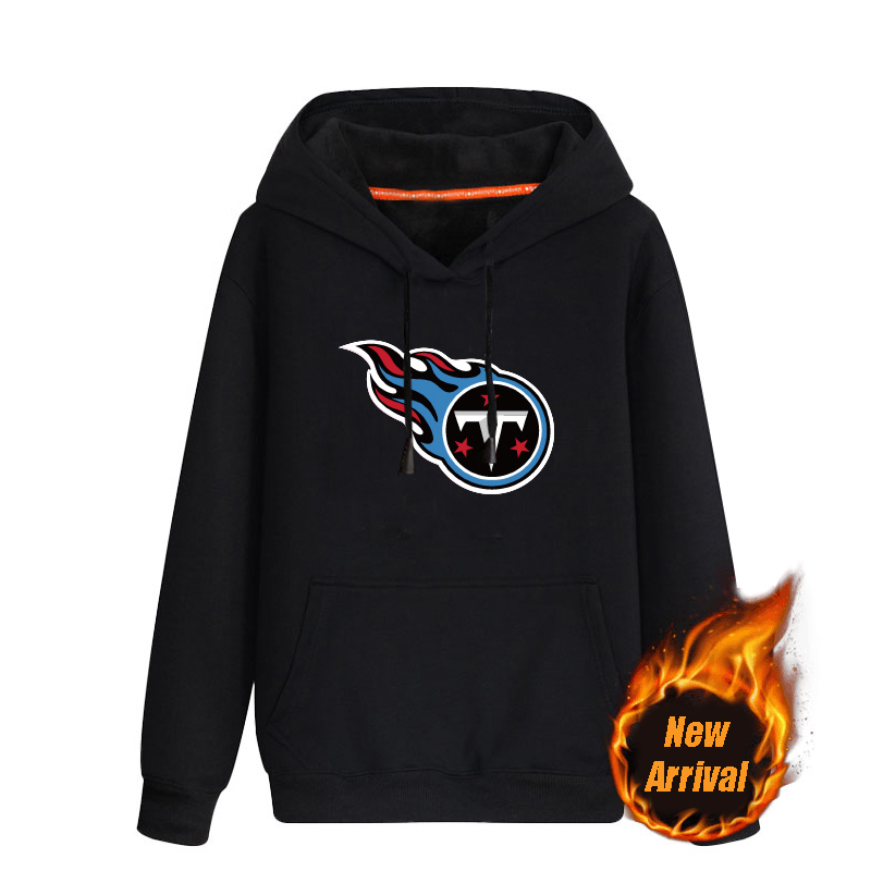 Men's Tennessee Titans Black 70%cotton 30%polyester Cashmere Thickening version NFL Hoodie