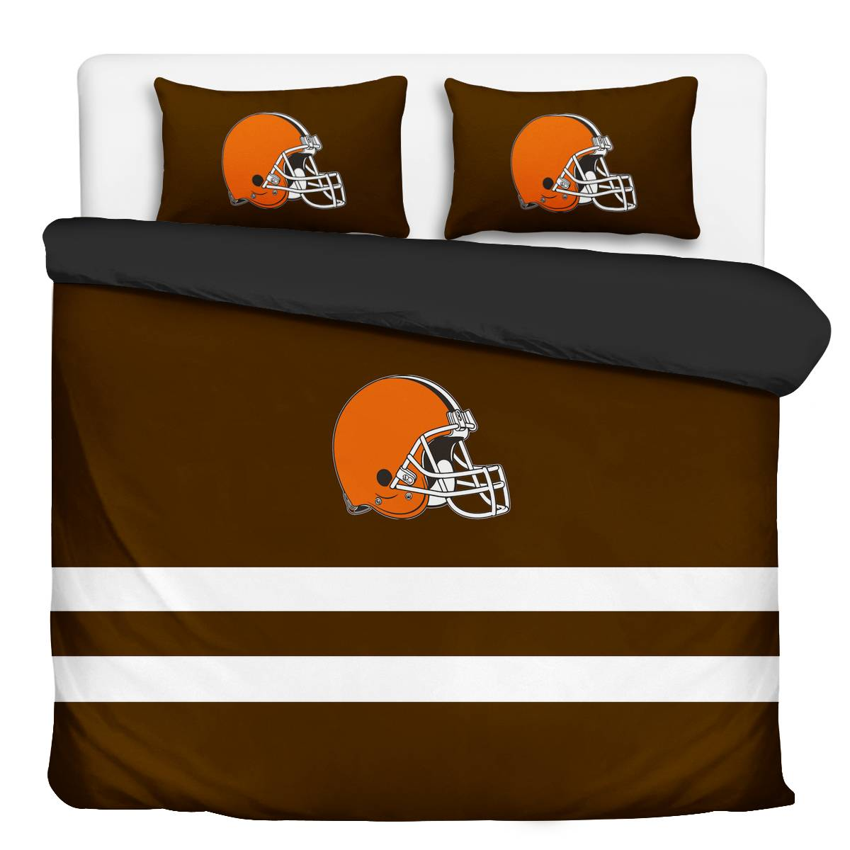 Cleveland Browns 3-Piece Full Bedding 001