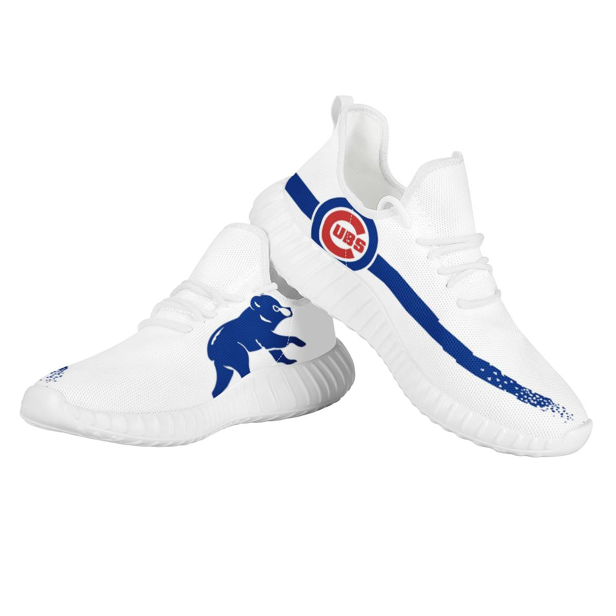 Men's Chicago Cubs Mesh Knit Sneakers/Shoes 008