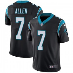 Men's Carolina Panthers #7 Kyle Allen Black Vapor Untouchable NFL Limited Stitched Jersey