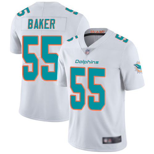 Men's Miami Dolphins #55 Jerome Baker White Color Rush Limited Stitched NFL Jersey