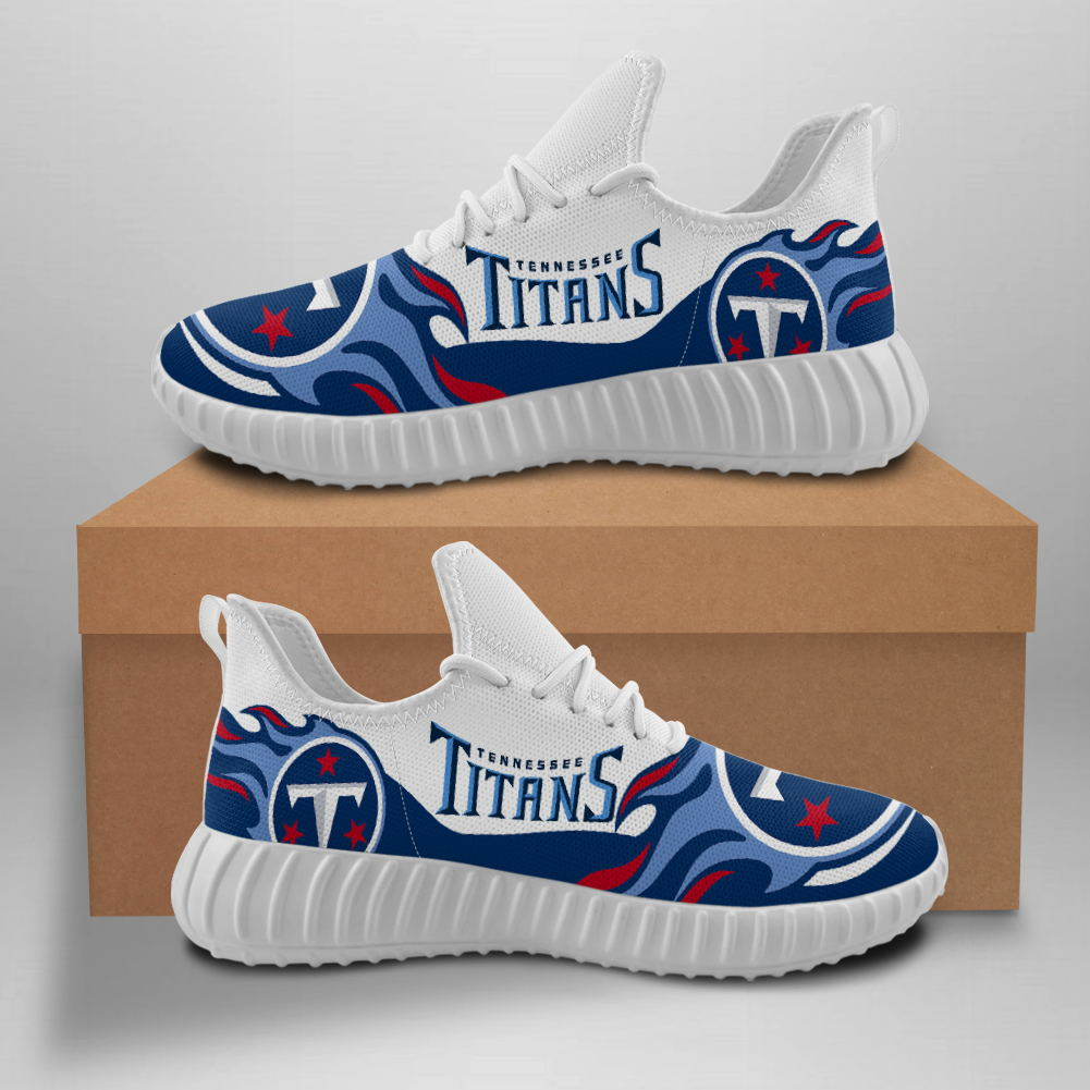 Men's NFL Tennessee Titans Mesh Knit Sneakers/Shoes 003