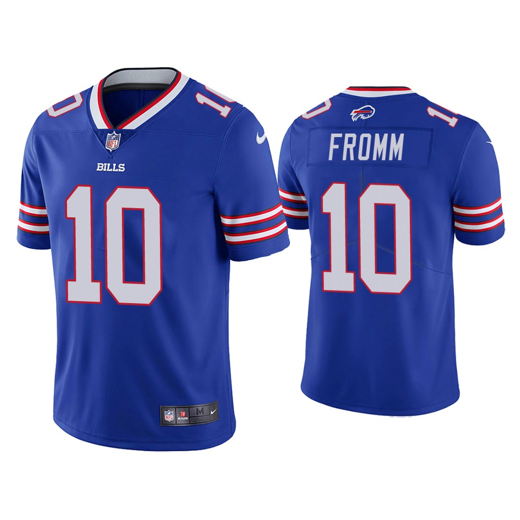 Men's Buffalo Bills #10 Jake Fromm Blue Vapor Untouchable Limited Stitched Jersey