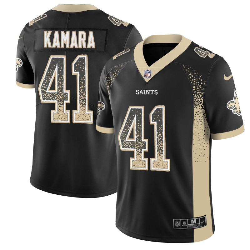 Men's New Orleans Saints #41 Alvin Kamara Black 2018 Drift Fashion Color Rush Limited Stitched NFL Jersey