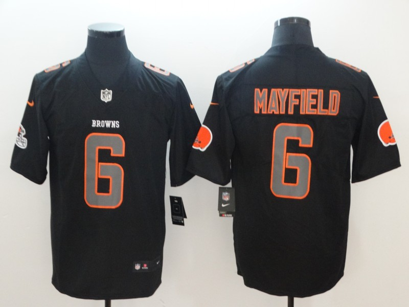 Men's Cleveland Browns #6 Baker Mayfield 2018 Black Impact Limited Stitched NFL Jersey