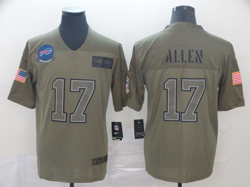 Men's Buffalo Bills #17 Josh Allen 2019 Camo Salute To Service Limited Stitched NFL Jersey
