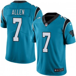 Men's Carolina Panthers #7 Kyle Allen Blue Vapor Untouchable NFL Limited Stitched Jersey