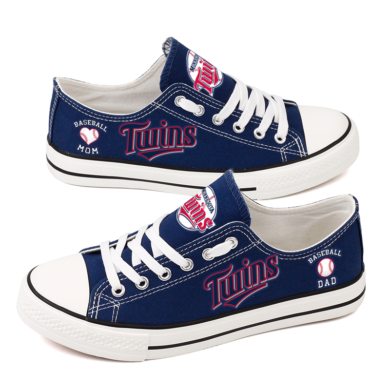 Women's Minnesota Twins Repeat Print Low Top Sneakers 003