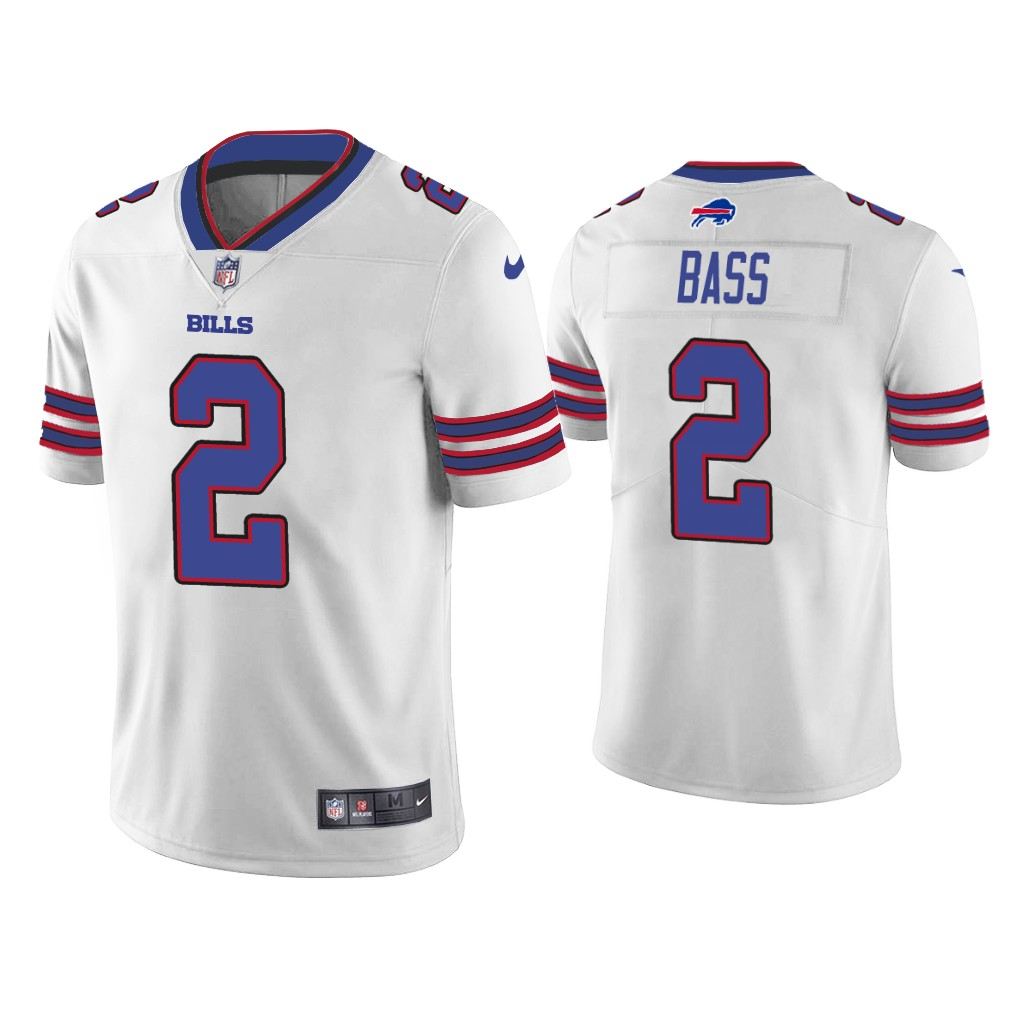 Men's Buffalo Bills #2 Tyler Bass White Vapor Untouchable Limited Stitched Jersey