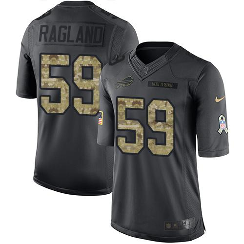 Nike Bills #59 Reggie Ragland Black Men's Stitched NFL Limited 2016 Salute To Service Jersey