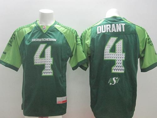 Roughriders #4 Darian Durant White Stitched Signature CFL Jersey