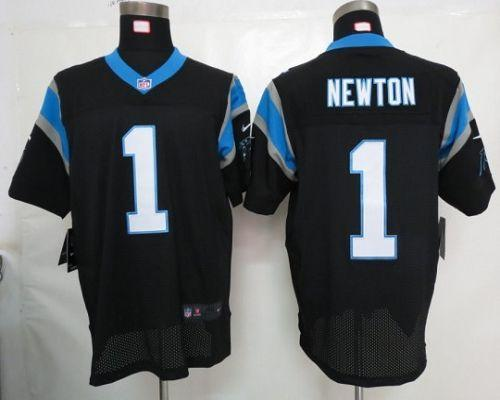Nike Panthers #1 Cam Newton Black Team Color Men's Stitched NFL Elite Jersey