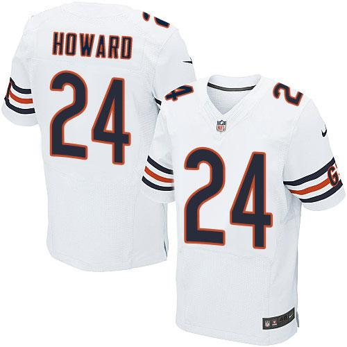 Nike Bears #24 Jordan Howard White Men's Stitched NFL Elite Jersey