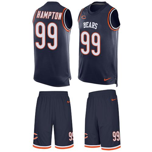 Nike Bears #99 Dan Hampton Navy Blue Team Color Men's Stitched NFL Limited Tank Top Suit Jersey