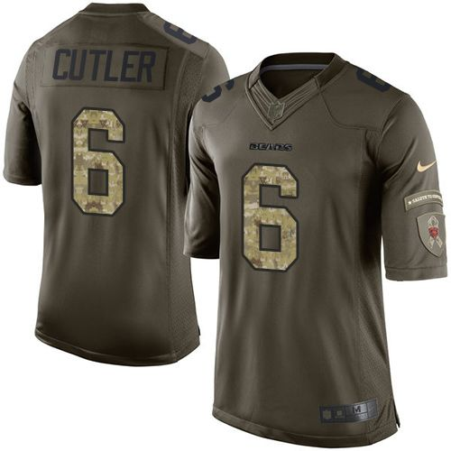 Nike Bears #6 Jay Cutler Green Men's Stitched NFL Limited Salute to Service Jersey