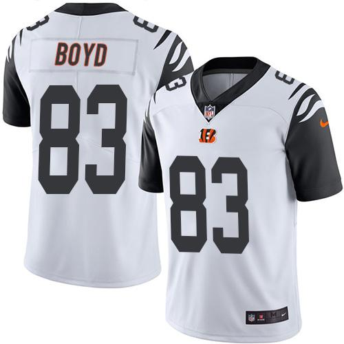 Nike Bengals #83 Tyler Boyd White Men's Stitched NFL Limited Rush Jersey