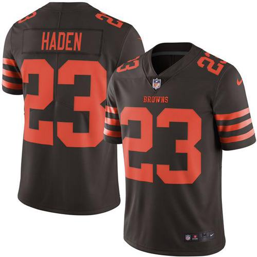 Nike Browns #23 Joe Haden Brown Men's Stitched NFL Limited Rush Jersey