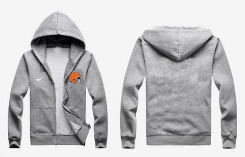 Nike Cleveland Browns Authentic Logo Hoodie Grey