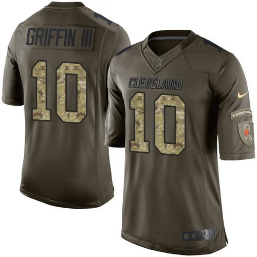 Nike Browns #10 Robert Griffin III Green Men's Stitched NFL Limited Salute to Service Jersey