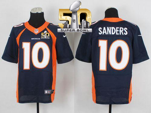 Nike Broncos #10 Emmanuel Sanders Navy Blue Alternate Super Bowl 50 Men's Stitched NFL New Elite Jersey