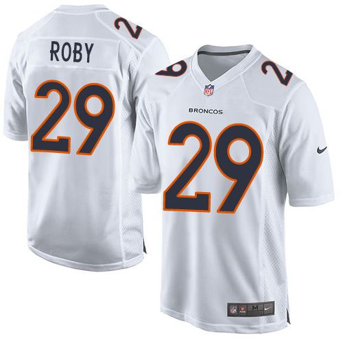 Nike Broncos #29 Bradley Roby White Men's Stitched NFL Game Event Jersey