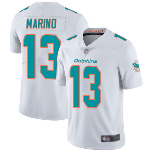 Men's Miami Dolphins #13 Dan Marino White Vapor Untouchable Player Limited Jersey