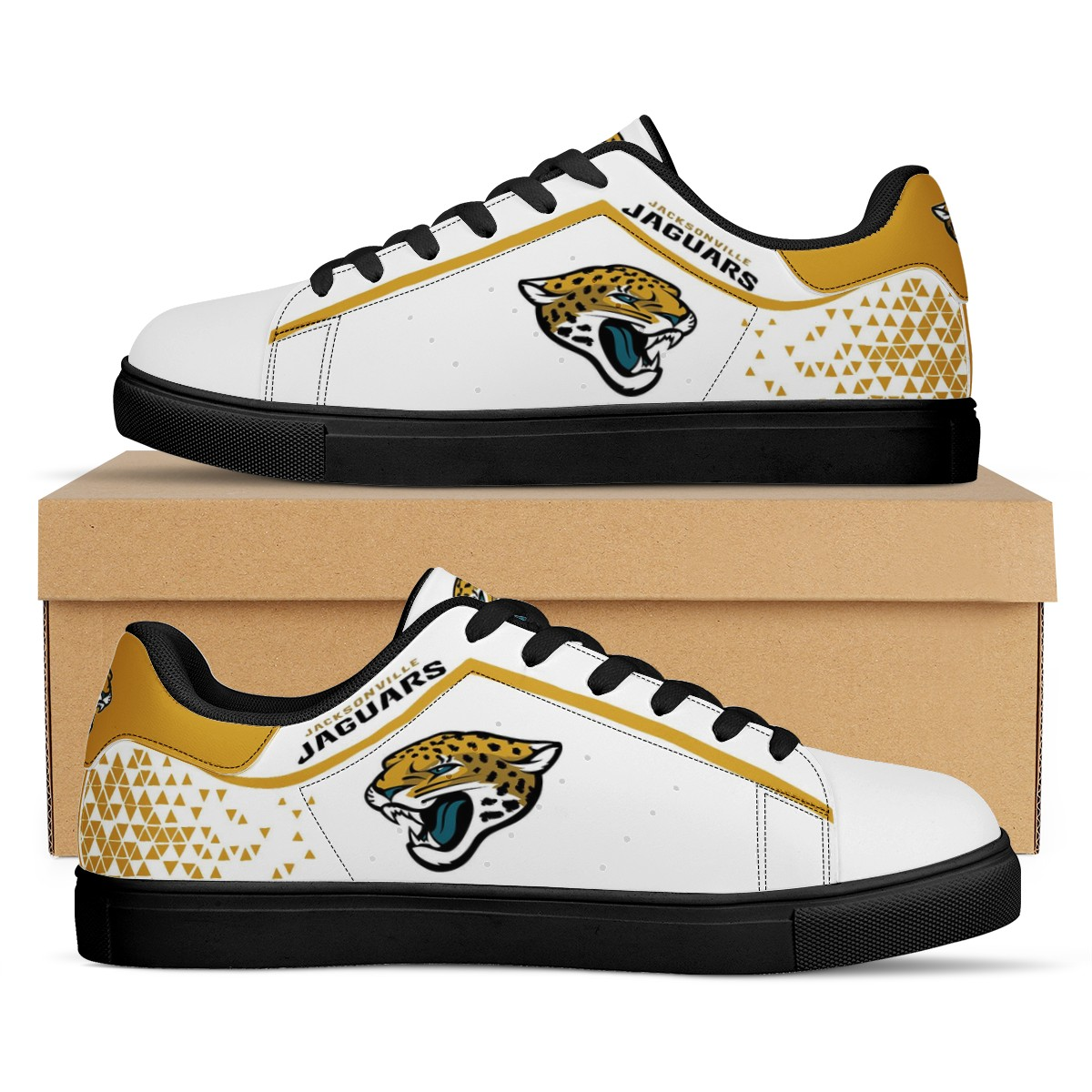 Men's Jacksonville Jaguars Low Top Leather Sneakers 001