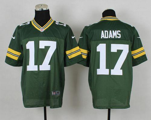 Nike Packers #17 Davante Adams Green Team Color Men's Stitched NFL Elite Jersey
