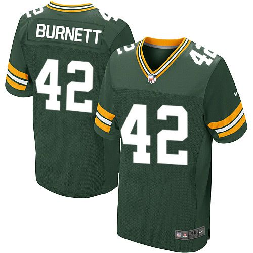 Nike Packers #42 Morgan Burnett Green Team Color Men's Stitched NFL Elite Jersey
