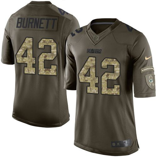 Nike Packers #42 Morgan Burnett Green Men's Stitched NFL Limited Salute To Service Jersey