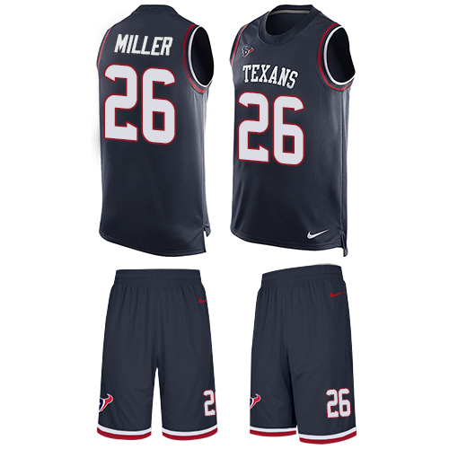 Nike Texans #26 Lamar Miller Navy Blue Team Color Men's Stitched NFL Limited Tank Top Suit Jersey