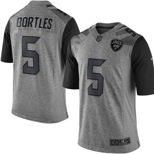 Nike Jaguars #5 Blake Bortles Gray Men's Stitched NFL Limited Gridiron Gray Jersey
