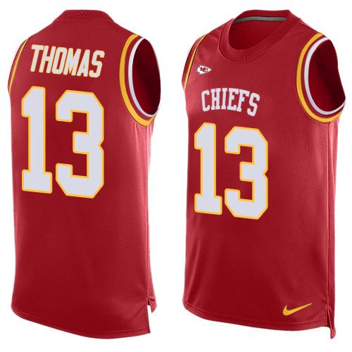 Nike Chiefs #13 De'Anthony Thomas Red Team Color Men's Stitched NFL Limited Tank Top Jersey