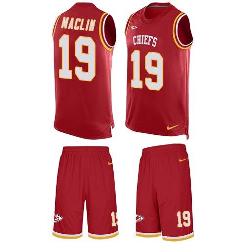 Nike Chiefs #19 Jeremy Maclin Red Team Color Men's Stitched NFL Limited Tank Top Suit Jersey