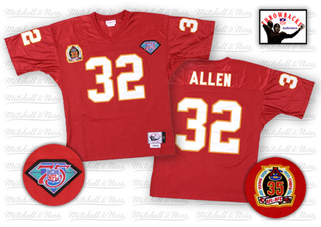 Mitchell And Ness Chiefs #32 Marcus Allen Red 75TH Stitched NFL Jersey