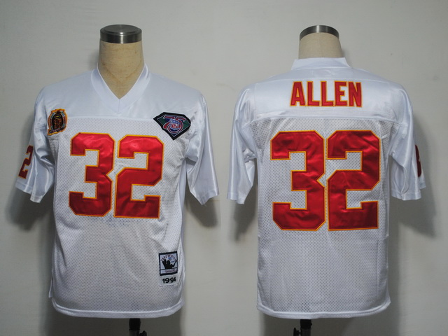 Mitchell And Ness Chiefs #32 Marcus Allen White 75TH Stitched NFL Jersey