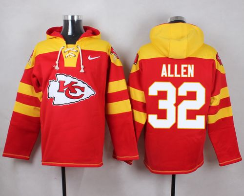 Nike Chiefs #32 Marcus Allen Red Player Pullover NFL Hoodie