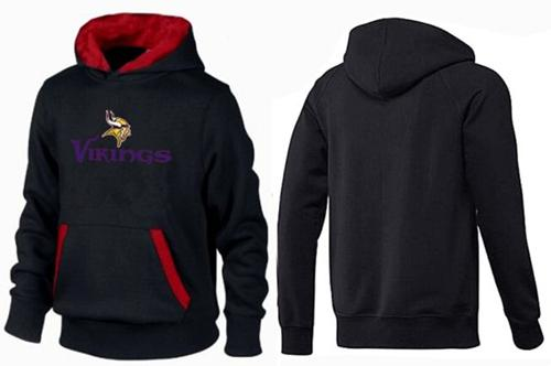 Minnesota Vikings Authentic Logo Pullover Hoodie Black & Red
